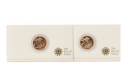 Lot 540-TWO GOLD PROOF SOVEREIGNS, 2009