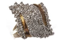 Lot 127 - A DIAMOND DRESS RING