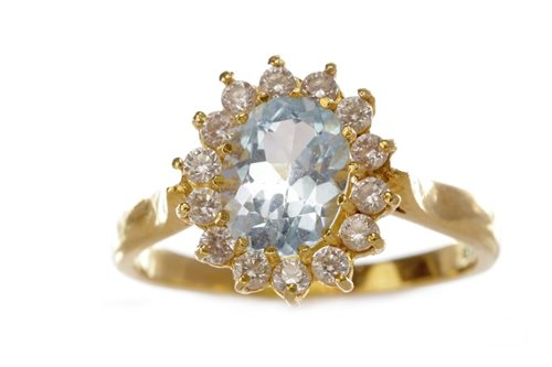 Lot 225-A GEM SET CLUSTER RING