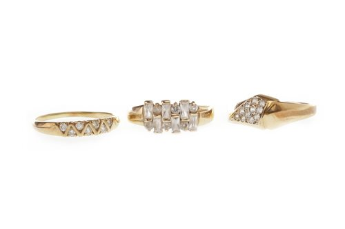 Lot 223 - THREE GOLD RINGS
