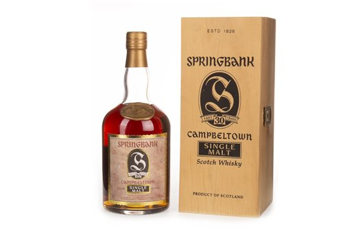 Lot 1031-SPRINGBANK AGED 30 YEARS