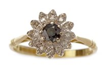 Lot 80 - A BLUE GEM AND DIAMOND CLUSTER RING