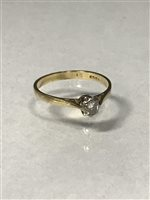 Lot 26-A DIAMOND SINGLE STONE RING