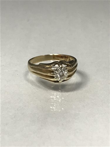 Lot 55-A DIAMOND SINGLE STONE RING