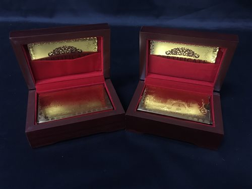 Lot 4-GOLD LEAF PLAYING CARDS
