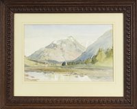 Lot 607-MOUNTAIN LANDSCAPE, BY WILLIAM CALLOW