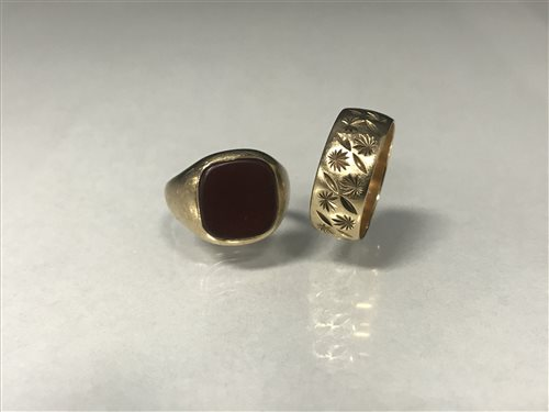 Lot 7-TWO GOLD RINGS