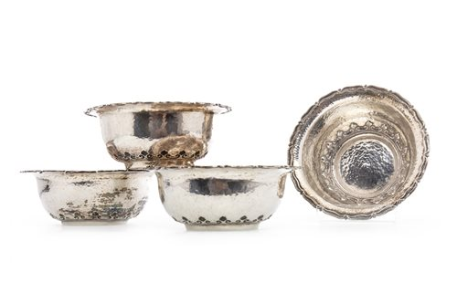 Lot 713-A SET OF FOUR CONTINENTAL SILVER BONBON DISHES