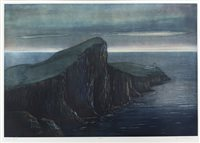 Lot 605-AN ORIGINAL ETCHING OF NEIST POINT, ISLE OF SKYE, BY TOM MACKENZIE