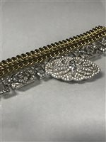 Lot 26-AN ART DECO DIAMOND SIMULATED BRACELET AND OTHER JEWELLERY