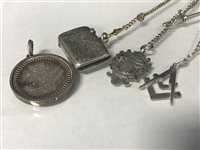Lot 19-A SILVER VESTA CASE AND OTHER ITEMS
