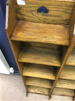 Lot 905-A PAIR OF EARLY 20TH CENTURY BOOKSHELVES IN THE STYLE OF LIBERTY