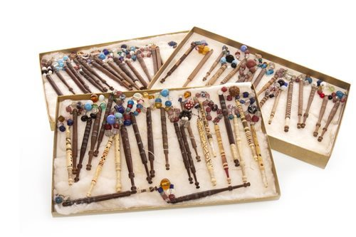 Lot 906-A COLLECTION OF VICTORIAN LACE MAKING BOBBINS