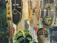 Lot 61-FINLAY MACKINTOSH, AFRICAN MASKS