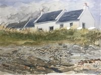 Lot 62-SCOTTISH SCHOOL, COTTAGES BY THE SHORE