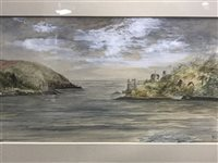 Lot 59-SCOTTISH SCHOOL, LANDSCAPE WITH CASTLES