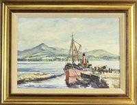 Lot 622-BOAT BY THE PIER, BY ROBIN MILLER