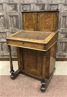 Lot 909-A VICTORIAN WALNUT DAVENPORT WRITING DESK