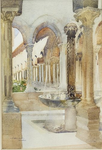 Lot 417-AN ORIGINAL WATERCOLOUR DEPICTING MONREALE, BY SIR WILLIAM RUSSELL FLINT