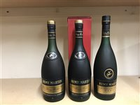 Lot 37-3 BOTTLES OF REMY MARTIN VSOP FINE CHAMPAGNE