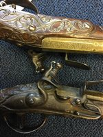 Lot 910-PAIR OF 18TH CENTURY DUTCH HOLSTER PISTOLS BY THEODORUS OF UTRECHT
