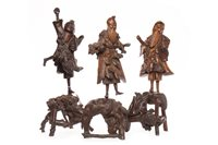 Lot 976-A LOT OF THREE CHINESE WOOD FIGURES