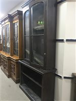 Lot 56-VICTORIAN CABINET BOOKCASE