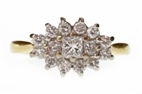 Lot 215-A DIAMOND CLUSTER RING