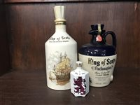 Lot 1-KING OF SCOTS PROCLOMATION FLAGON & KING OF SCOTS CERAMIC DECANTER