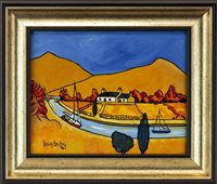 Lot 98-LOCK HOUSE ON THE CRINAN CANAL, BY IAIN CARBY