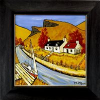 Lot 101-AUTUMNAL DAY ON THE CRINAN CANAL, BY IAIN CARBY