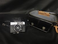 Lot 67-A HALINA 2000 FILM CAMERA WITH ACCESSORIES AND A HAT BOX