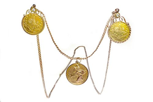Lot 520-GOLD COIN NECKLACE