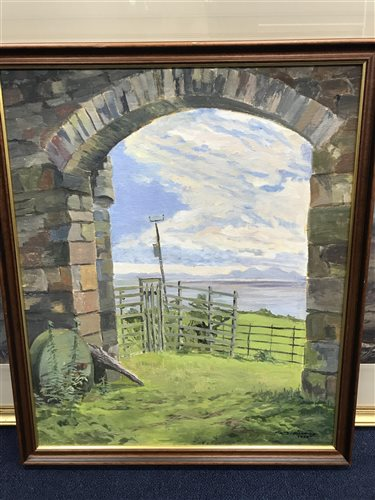 Lot 25-AN OIL ON CANVAS BY RICHARD KITCHING