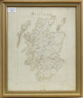 Lot 923-A SET OF THREE VICTORIAN HAND-DRAWN MAPS OF GREAT BRITAIN & IRELAND