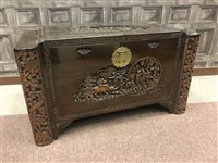 Lot 962-A CHINESE CARVED WOOD CHEST