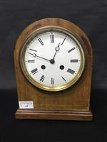 Lot 62-AN EARLY 20TH CENTURY FRENCH MANTEL CLOCK