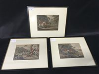 Lot 63-A SET OF THREE VICTORIAN ENGRAVINGS WITH HUNTING SUBJECTS