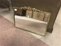 Lot 64-AN ART DECO WALL MIRROR WITH TWO OTHER WALL MIRRORS