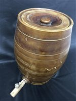 Lot 58-A 19TH CENTURY SLIPWARE 'ETHERIUM DRINKING WATER' BARREL