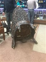 Lot 965-AN ANGLO INDIAN CHAIR