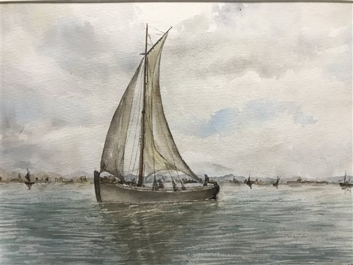 Lot 46-A WATERCOLOUR BY H STRONG