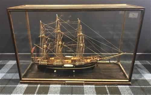 Lot 927-A VICTORIAN WOODEN MODEL OF THE SAILING SHIP 'JOSEPH CONRAD'