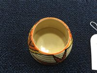 Lot 1224-A CLARICE CLIFF FOR WILKINSON BIZARRE PRESERVE POT AND COVER