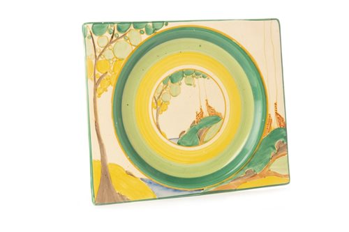 Lot 1226-A CLARICE CLIFF FOR ROYAL STAFFORDSHIRE BIZARRE BIARRITZ PLATE