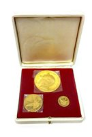 Lot 537 - A BATTLE OF BRITAIN THREE GOLD COIN SET