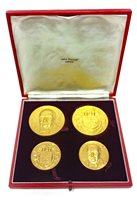 Lot 536-A JOHN PINCHES WINSTON CHURCHILL GOLD FOUR COIN SET