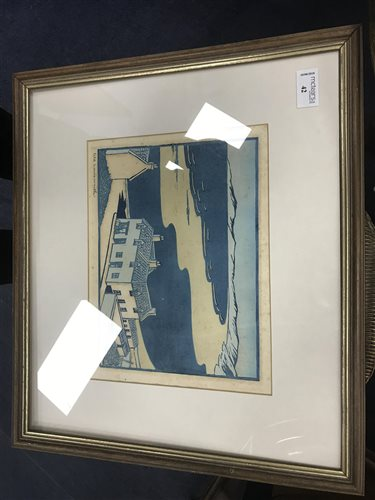 Lot 42-A LINOCUT BY ARGENT BRIERLEY
