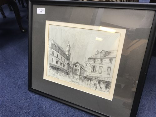 Lot 40-PENCIL ON PAPER BY ALISTAIR ANDERSON
