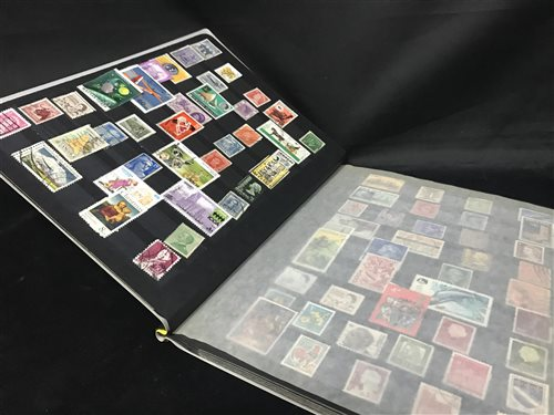 Lot 33-A LARGE STOCK BOOK FULL OF WORLDWIDE STAMPS